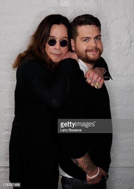 Ozzy Osbourne and son producer Jack Osbourne visit the Tribeca Film Festival 2011 portrait studio on April 25 2011 in New York City
