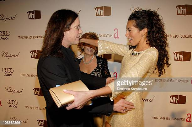 Ozzy Osbourne and Terri Seymour with Sharon Osbourne in background