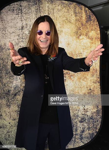 Ozzy Osbourne attends the MTV EMA's 2014 at The Hydro on November 9 2014 in Glasgow Scotland