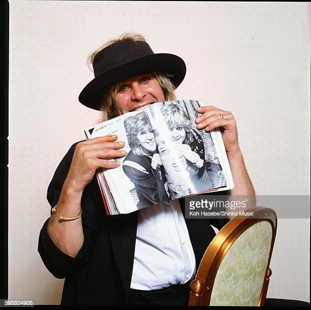 Ozzy Osbourne biting Music Life in a hotel room Tokyo June 1986