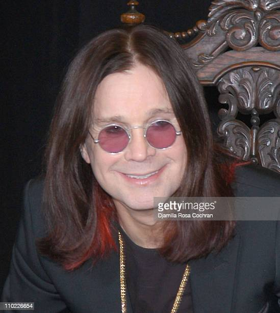 Ozzy Osbourne during Ozzy Osbourne and Sharon InStore Appearance March 22 2005 at Tower Records in New York City New York United States