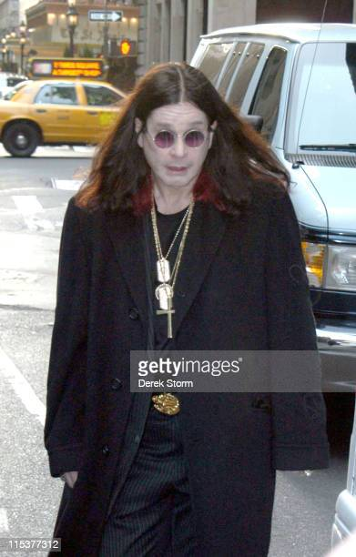 Ozzy Osbourne during Ozzy Osbourne and Sharon Osbourne Sighting In New York City October 21 2004 at New York City in New York City New York United...