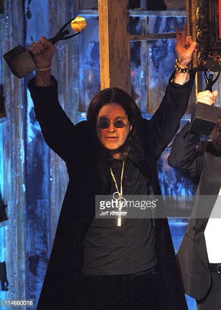 Ozzy Osbourne of Black Sabbath inductees during 21st Annual Rock and Roll Hall of Fame Induction Ceremony Show at The WaldorfAstoria in New York City...