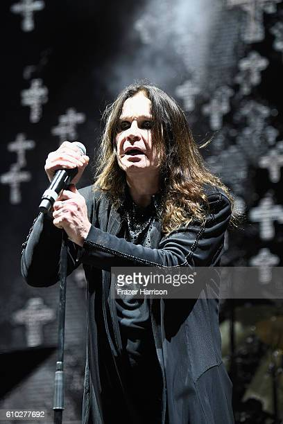 Ozzy Osbourne of Black Sabbath performs at Ozzfest 2016 at San Manuel Amphitheater on September 24 2016 in Los Angeles California