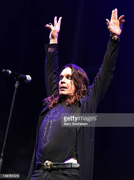 Ozzy Osbourne of Black Sabbath performs during 2012 Lollapalooza at Grant Park on August 3 2012 in Chicago Illinois