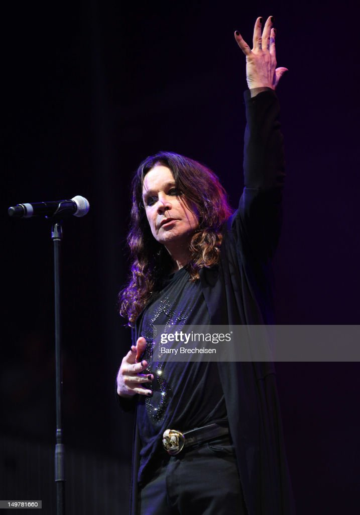 Ozzy Osbourne of Black Sabbath performs during 2012 Lollapalooza at Grant Park on August 3, 2012 in Chicago, Illinois.