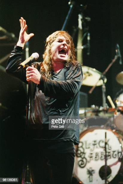 Ozzy Osbourne of Black Sabbath performs on stage at the Birmingham NEC on December 12th 1997 in London England
