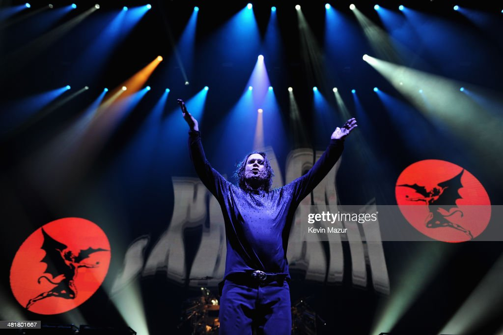 <a gi-track='captionPersonalityLinkClicked' href=/galleries/search?phrase=Ozzy+Osbourne&family=editorial&specificpeople=138608 ng-click='$event.stopPropagation()'>Ozzy Osbourne</a> of Black Sabbath performs onstage at Barclays Center of Brooklyn on March 31, 2014 in New York City.