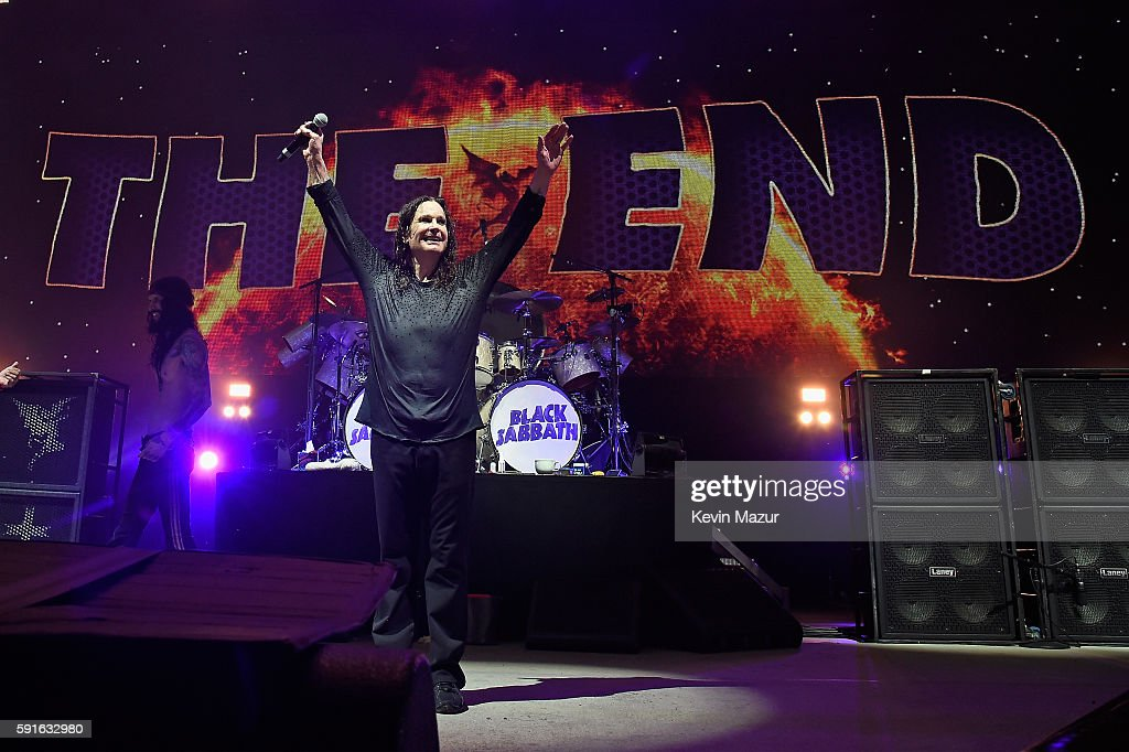 Ozzy Osbourne of Black Sabbath performs onstage on 'The End Tour' at Nikon at Jones Beach Theater on August 17, 2016 in Wantagh, New York.