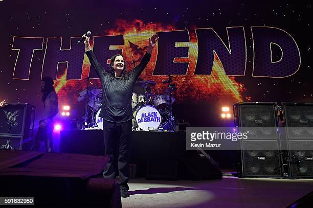 Ozzy Osbourne of Black Sabbath performs onstage on 'The End Tour' at Nikon at Jones Beach Theater on August 17 2016 in Wantagh New York