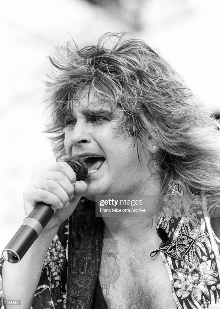 Ozzy Osbourne performs for a sold out crowd at the Live Aid concert at JFK Stadium in Philadelphia, Pennsylvania, July 13, 1985. Photo by Frank Micelotta/ImageDirect.
