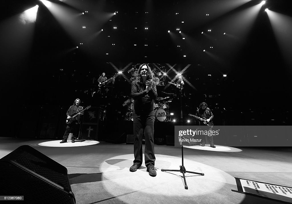 Ozzy Osbourne performs with Black Sabbath onstage at Madison Square Garden on February 25, 2016 in New York City.