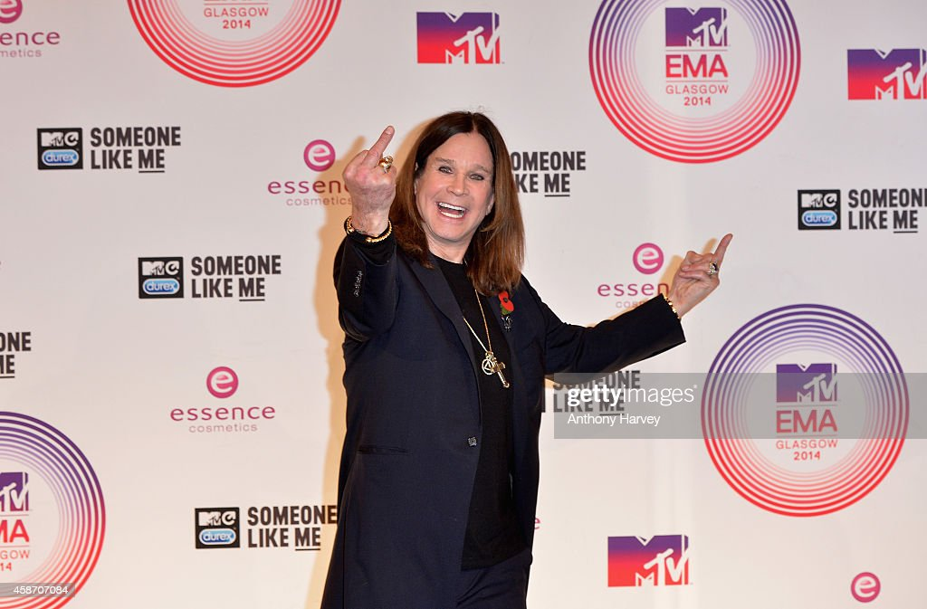 <a gi-track='captionPersonalityLinkClicked' href=/galleries/search?phrase=Ozzy+Osbourne&family=editorial&specificpeople=138608 ng-click='$event.stopPropagation()'>Ozzy Osbourne</a> poses in the winners room at the MTV EMA's 2014 after winning the Global Icon award at The Hydro on November 9, 2014 in Glasgow, Scotland.