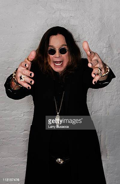 Ozzy Osbourne visits the Tribeca Film Festival 2011 portrait studio on April 25 2011 in New York City