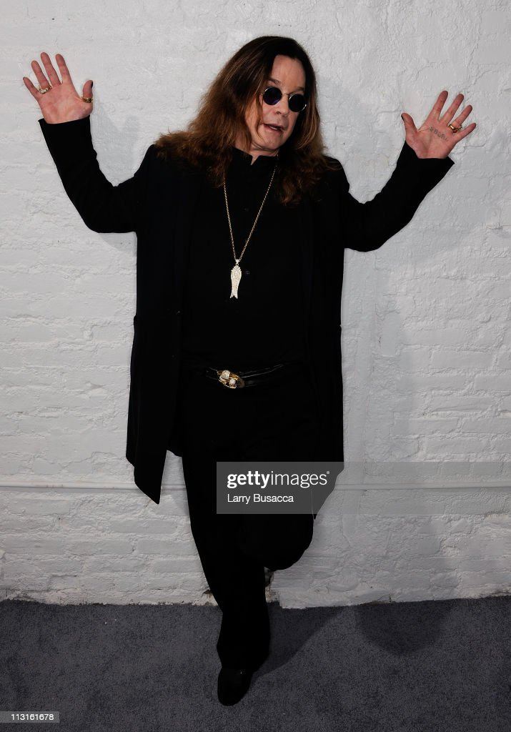 Ozzy Osbourne visits the Tribeca Film Festival 2011 portrait studio on April 25, 2011 in New York City.