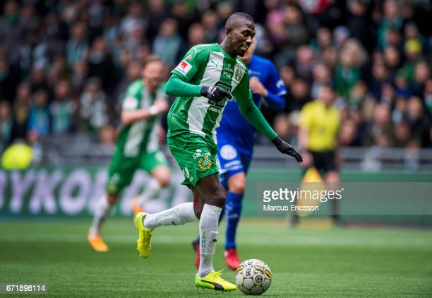 Pa Amat Dibba of Hammarby IF during the Allsvenskan match between Hammarby IF and GIF Sundsvall at Tele2 Arena on April 23 2017 in Stockholm Sweden