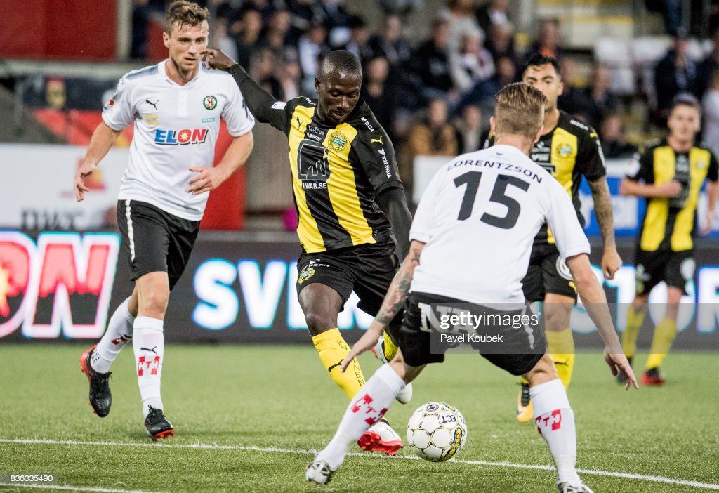 Pa Amat Dibba of Hammarby IF during the Allsvenskan match between Orebro SK and Hammarby IF at Behrn Arena on August 21, 2017 in Orebro, Sweden.