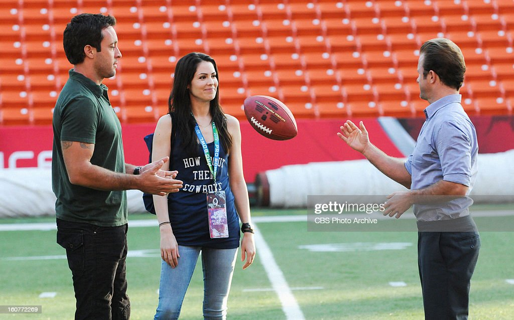 'Pa' ani' -- It's an All-Pro football weekend in Hawaii and while Danny (Scott Caan, right, with Alex O'Loughlin, left, Michelle Borth, center) obsesses about the big game, Five-0 investigates the murder of a tech executive with the help of a star football player, on HAWAII FIVE-0, Monday, Feb. 18(10:00-11:00 PM, ET/PT) on the CBS Television Network.