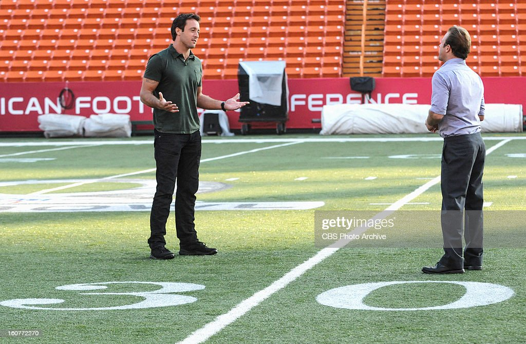 'Pa' ani' -- It's an All-Pro football weekend in Hawaii and while Danny (Scott Caan, right, with Alex O'Loughlin, left) obsesses about the big game, Five-0 investigates the murder of a tech executive with the help of a star football, , on HAWAII FIVE-0,, Monday, Feb. 18(10:00-11:00 PM, ET/PT) on the CBS Television Network.
