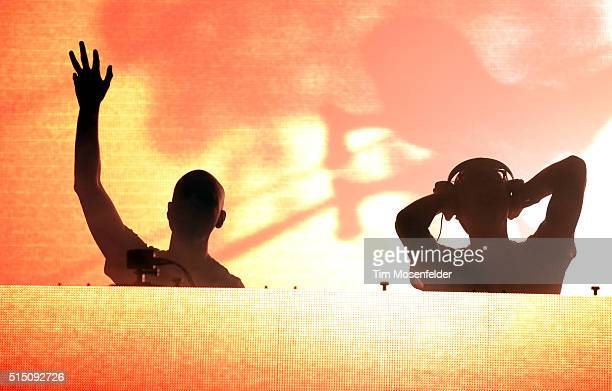 Paavo Siljamaki and Jono Grant of Above Beyond perform during the 2016 Buku Music Arts Project Festival at Mardi Gras World on March 11 2016 in New...