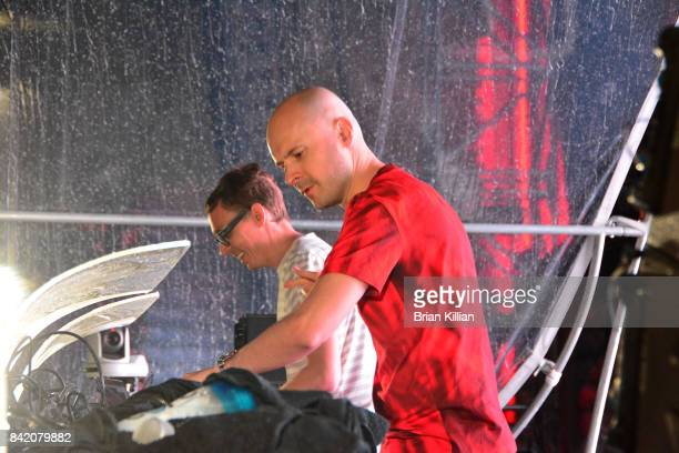 Paavo Siljamaki and Jono Grant of the group Above and Beyond perform at the Electric Zoo Music Festival Day 2 at Randall's Island on September 2 2017...
