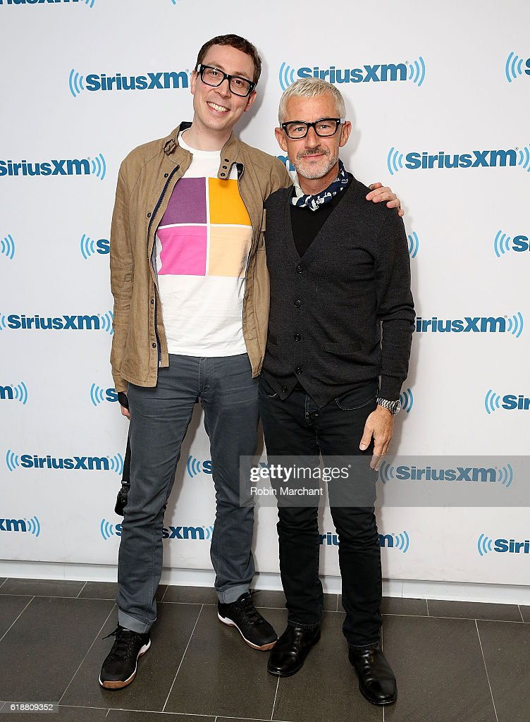 Paavo Siljamaki and Tony McGuinness of Above and Beyond visit at SiriusXM Studio on October 28, 2016 in New York City.