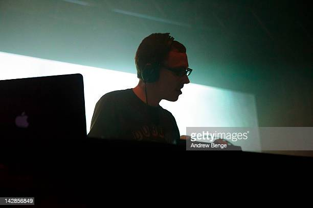 Paavo Siljamaki of Above Beyond performs on stage at O2 Academy on April 13 2012 in Leeds United Kingdom