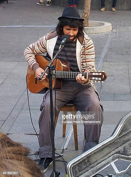 Pablo Alboran is seen dressedup with beggar clothes on October 13 2013 in Madrid Spain