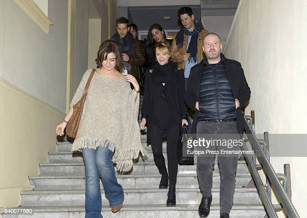 Pablo Alboran Maria Esteve attend Celia Flores concert '20 years from Marisol to Pepa Flores' at Cervantes Theatre on December 23 2016 in Malaga Spain