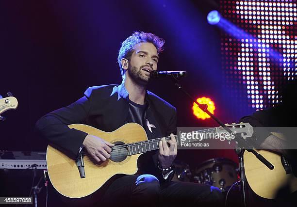 Pablo Alboran performs at the 'Cadena 100 Por Ellas' concert at the Barclaycard Center on November 7 2014 in Madrid Spain
