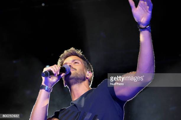 Pablo Alboran performs during his concert in Madrid at the Palacio de los Deportes June 23 2017