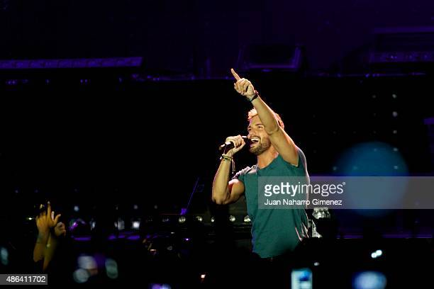 Pablo Alboran performs on stage during 'Cadena Dial' 25th Anniversary concert at Barclaycard Center on September 3 2015 in Madrid Spain