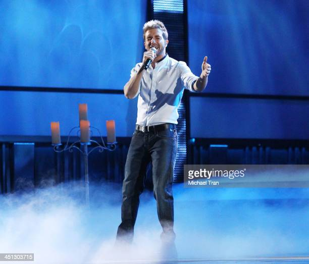Pablo Alboran performs onstage during the 14th Annual Latin GRAMMY Awards held at Mandalay Bay Resort and Casino on November 21 2013 in Las Vegas...