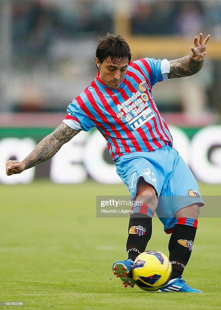 Pablo Alvarez of Catania during the Serie A match between Calcio Catania and S.S. Lazio at Stadio Angelo Massimino on November 4, 2012 in Catania, Italy.