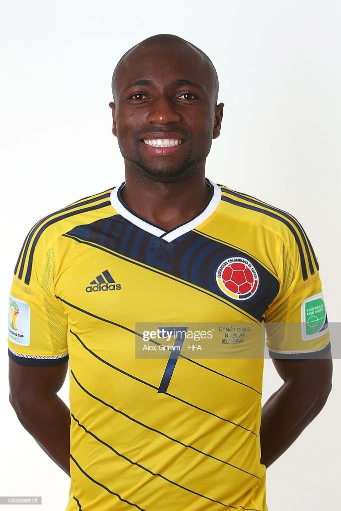 <a gi-track='captionPersonalityLinkClicked' href=/galleries/search?phrase=Pablo+Armero&family=editorial&specificpeople=631297 ng-click='$event.stopPropagation()'>Pablo Armero</a> of Colombia poses during the official FIFA World Cup 2014 portrait session on June 9, 2014 in Sao Paulo, Brazil.
