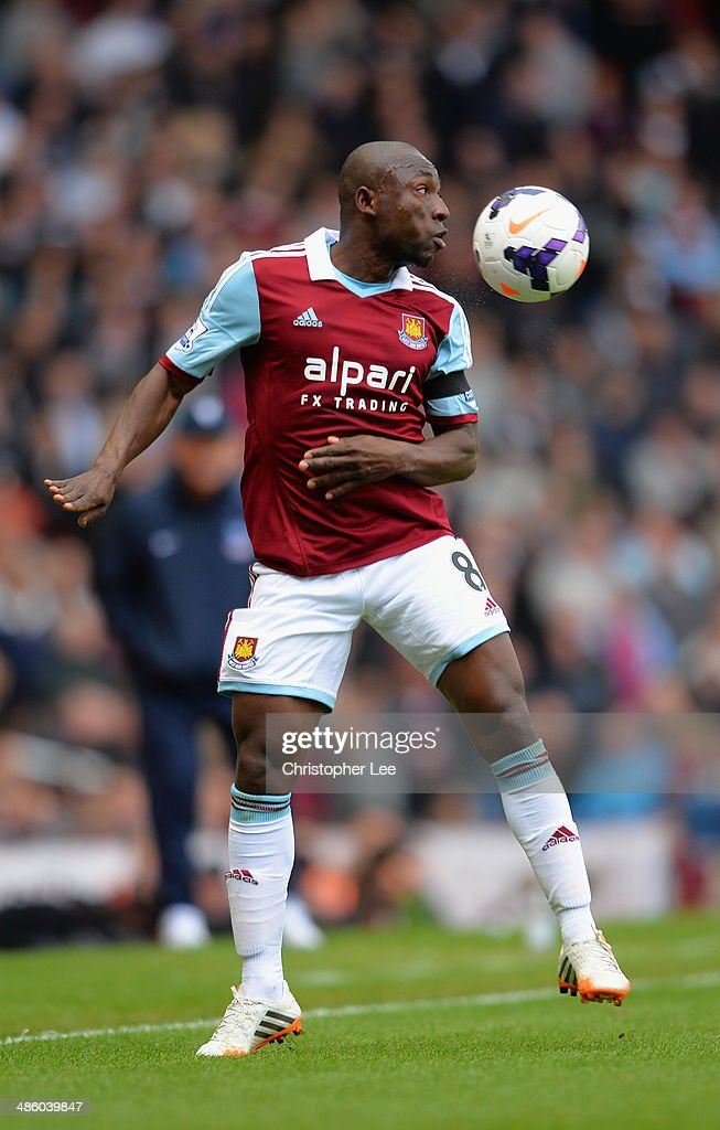 <a gi-track='captionPersonalityLinkClicked' href=/galleries/search?phrase=Pablo+Armero&family=editorial&specificpeople=631297 ng-click='$event.stopPropagation()'>Pablo Armero</a> of West Ham United during the Barclays Premier League match between West Ham United and Crystal Palace at Boleyn Ground on April 19, 2014 in London, England.