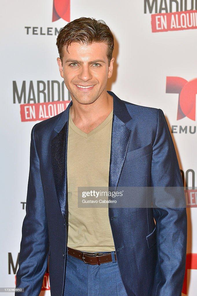 Pablo Azar attends Telemundos 'Marido en Alquiler' Presentation on July 10, 2013 in Miami, Florida.