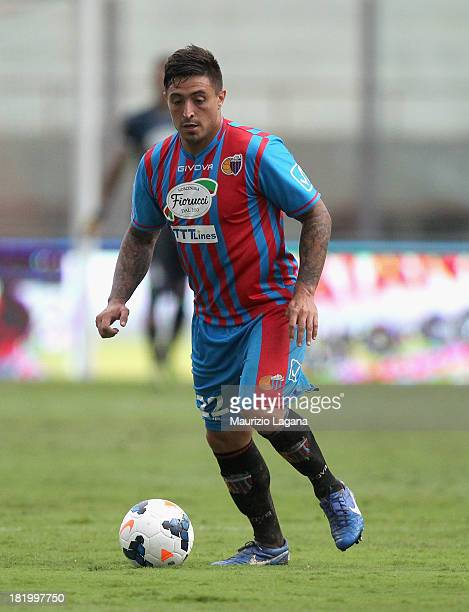 Pablo Barrientos of Catania during the Serie A match between Calcio Catania and Parma FC at Stadio Angelo Massimino on September 22 2013 in Catania...