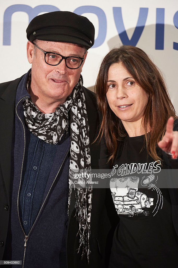 Pablo Carbonell and Maria Arellano attend the 'Que fue de Jorge Sanz' premiere at the Proyecciones cinema on February 10, 2016 in Madrid, Spain.