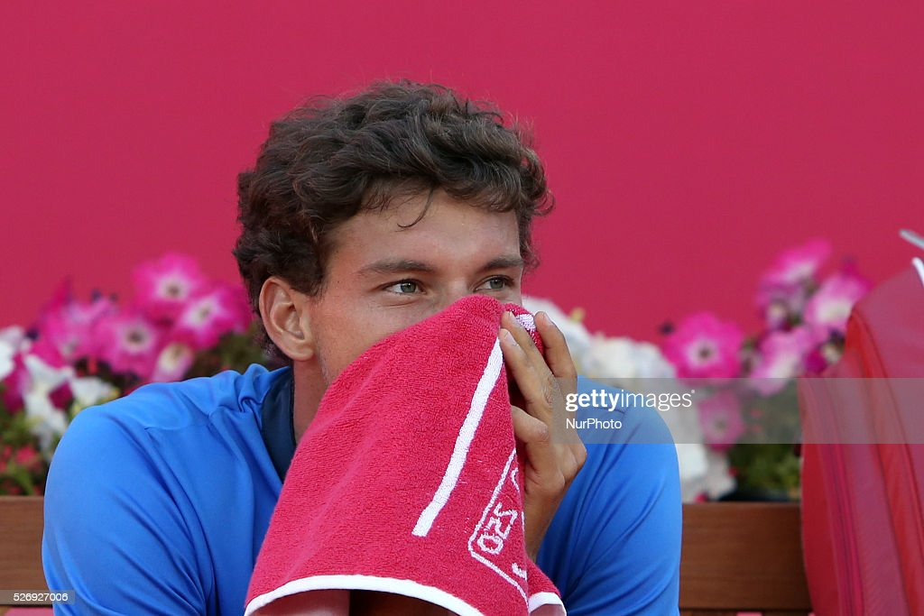 Pablo Carreno Busta of Spain reacts after lost against Pablo Carreno Busta of Spain the Final of the Millennium Estoril Open ATP 250 tennis tournament at the Clube de Tenis do Estoril in Portugal on May 1, 2016. Almagro won 2-1