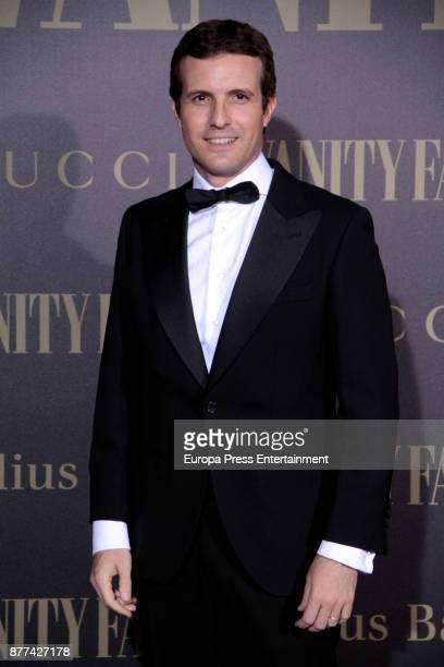Pablo Casado attends the gala 'Vanity Fair Personality of the Year' to Garbine Muguruza at Ritz Hotel on November 21 2017 in Madrid Spain
