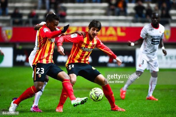 Pablo CHAVARRIA / Wylan CYPRIEN Lens / Rennes 27eme journee de Ligue 1 Photo Dave Winter / Icon Sport