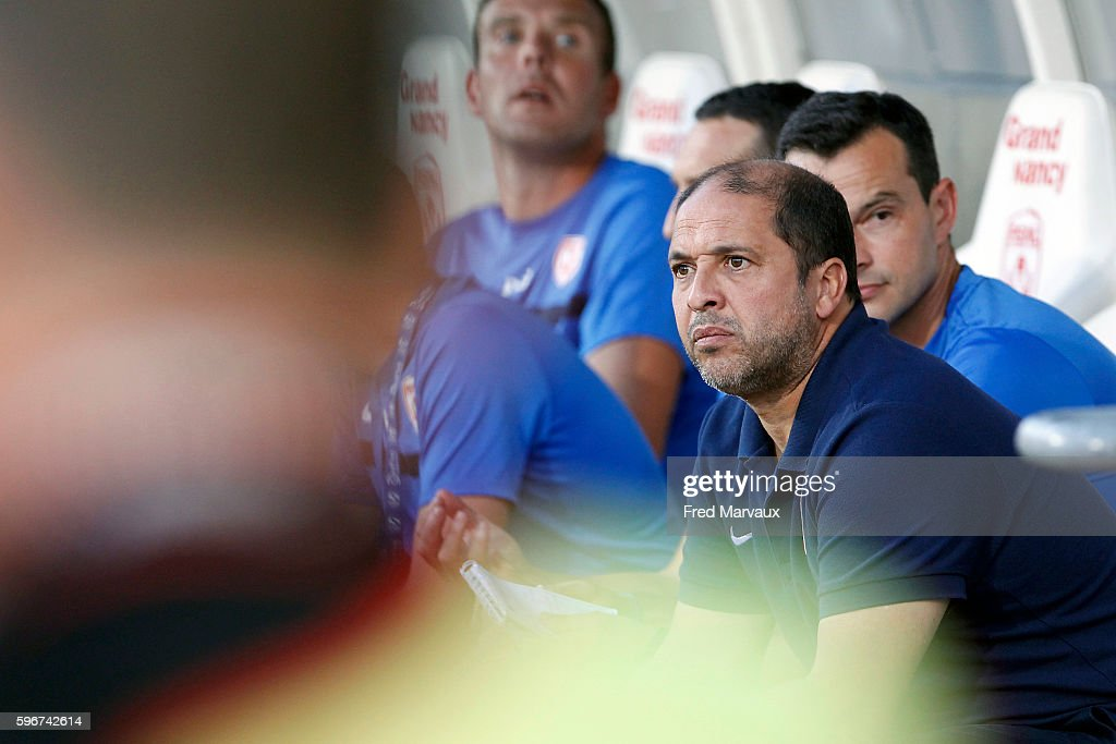 Pablo Correa coach of Nancy during the French Ligue 1 between Nancy and Guingamp at Stade Marcel Picot on August 27 2016 in Nancy France