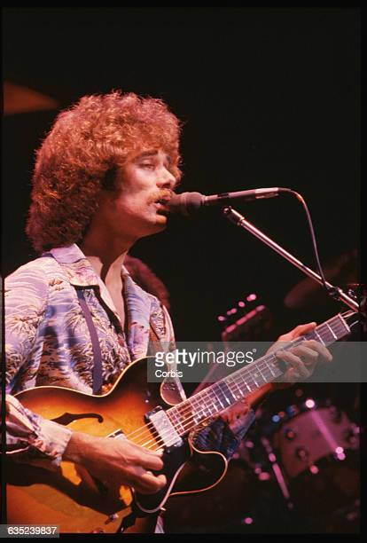 Pablo Cruise singer and guitarist Dave Jenkins sings during a concert at the Sacramento Community Center Theatre