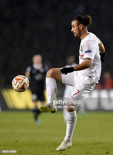 Pablo Daniel Osvaldo of FC Internazionale in action during the UEFA Europa League group F match between Qarabag FK and FC Internazionale Milano on...