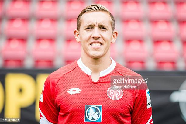 Pablo de Blasis poses during the 1 FSV Mainz 05 Team Presentation at Coface Arena on July 12 2015 in Mainz Germany