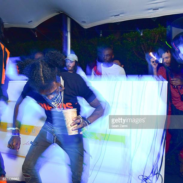 Pablo el Patron and A$AP Mob attend A$AP Worldwide Cozy Clubhouse at The Surf Lodge Bungalow on December 2 2016 in Miami Beach FL