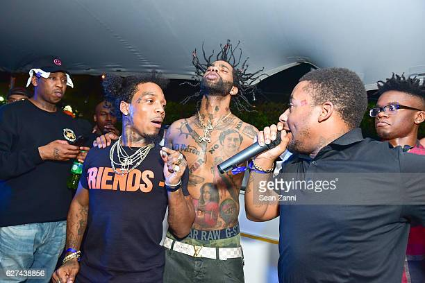 Pablo el Patron Drug Rich Peso Hoodrich Pablo Juan and A$AP Mob attend A$AP Worldwide Cozy Clubhouse at The Surf Lodge Bungalow on December 2 2016 in...