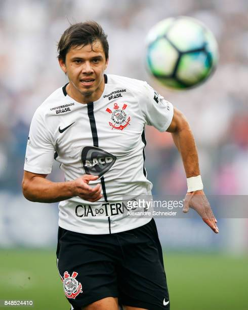 Pablo Escobar of Corinthians and China of Vasco da Gama in action during the match between Corinthians and Vasco da Gama for the Brasileirao Series A...