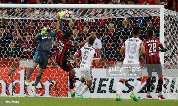 Pablo Escobar of Flamengo and Thiago Maia of Atletico PR in action during the match between Atletico PR of Brazil and Flamengo of Brazil for the Copa...